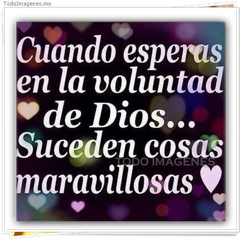 Cuando esperas en la voluntad de Dios...Suceden cosas maravillosas