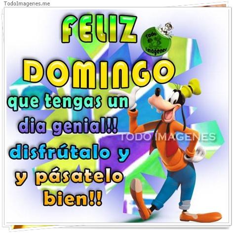 Feliz Domingo que tengas un día genial!! disfrútalo y pásatelo bien!!