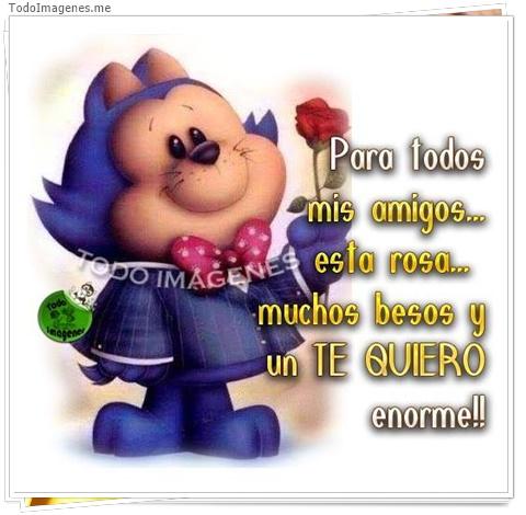 Para todos mis amigos, esta rosa, muchos besos y un Te Quiero enorme !!