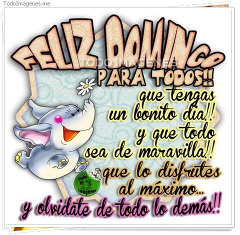 FELIZ DOMINGO PARA TODOS !! que tengas un bonito dia!! y que todo sea de maravilla !! que lo disfrutes al máximo y olvidate de todo lo demás !!