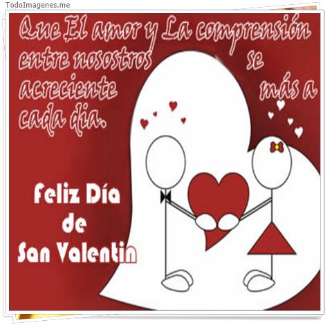 Que el amor y la comprension entre nosotros se acreciente mas a cada dia. Feliz Dia de San Valentin
