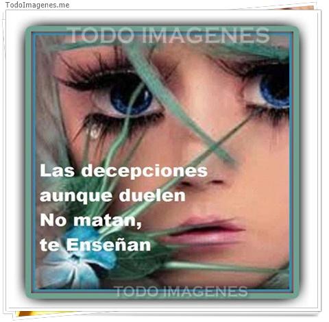 Las decepciones aunque duelen no matan, te enseñan
