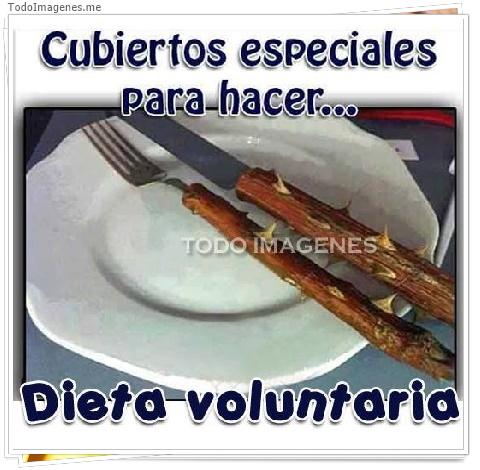 Cibiertos especiales para hacer...Dieta voluntaria