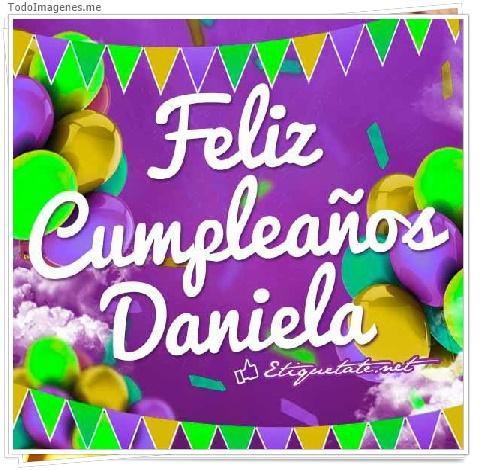 Feliz Cumpleaños Daniela