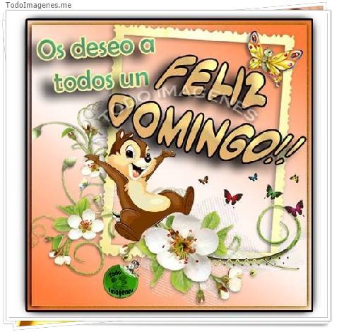 Os deseo a todos un FELIZ DOMINGO!!