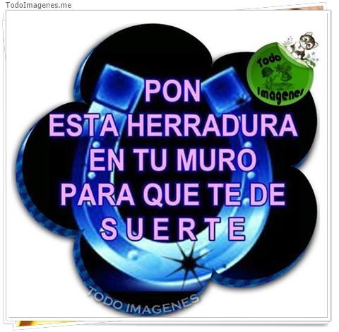 PON ESTA HERRADURA EN TU MURO PARA QUE TE DE SUERTE