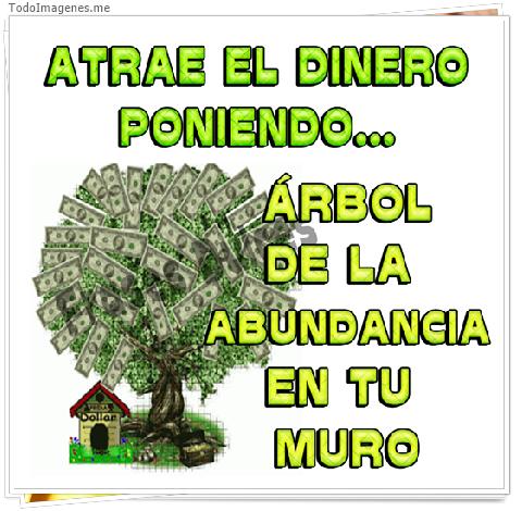 EL DINERO PONIENDO....ÁRBOL DE LA ABUNDANCIA EN TU MURO