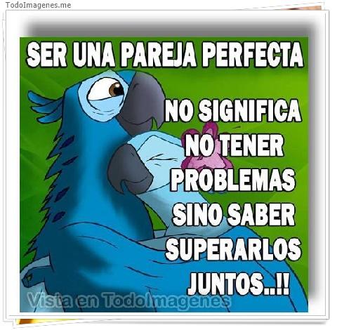 SER PAREJA PERFECTA NO SIGNIFICA NO TENER PROBLEMAS SINO SABER SUPERARLOS JUNTOS...!!