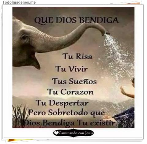 QUE DIOS BENDIGA Tu Risa, Tu Vivir, Tus Sueños, Tu Corazón, Tu Despertar, Pero Sobretodo que Dios bendiga Tu Existir