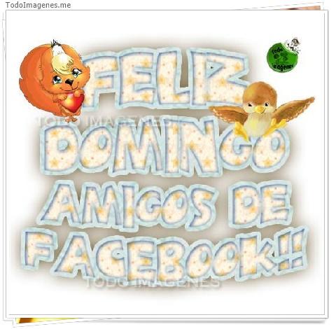 FELIZ DOMINGO AMIGOS DE FACEBOOK!!