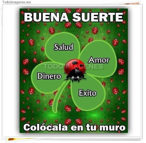 Buena Suerte, Salud, Amor, Éxito, Dinero
