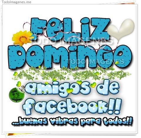 FELIZ DOMINGO amigos de facebook !!...buenas vibras para todos !!