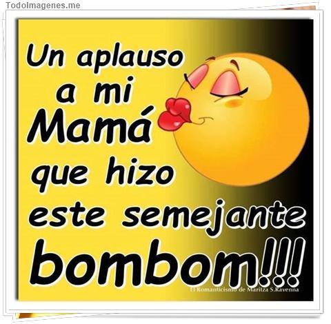 Un aplauso a mi Mamá que hizo semenjante bombom!!!
