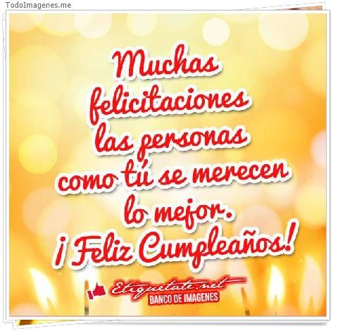 Muchas felicitaciones las personas como tu se merecen lo mejor. ¡ Feliz Cumpleaños !