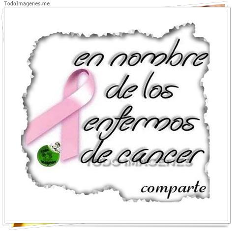 en nombre de los enfermos de cancer