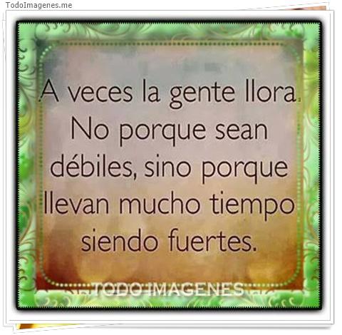 A veces la gente llora. No porque sean débiles, sino porque llevan mucho tiempo siendo fuertes.