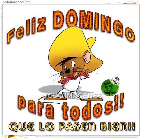 Feliz DOMINGO para todos !! QUE LO PASEN BIEN !!